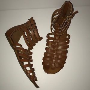 Brown EXPRESS ankle gladiator sandals